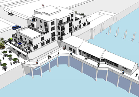 CGI of Southwold Pier